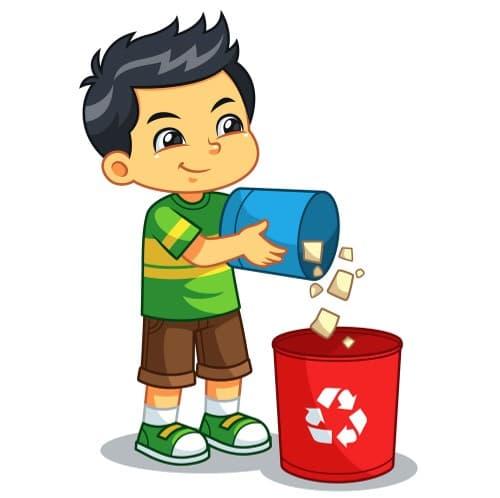 children throw waste - Recyclage Express